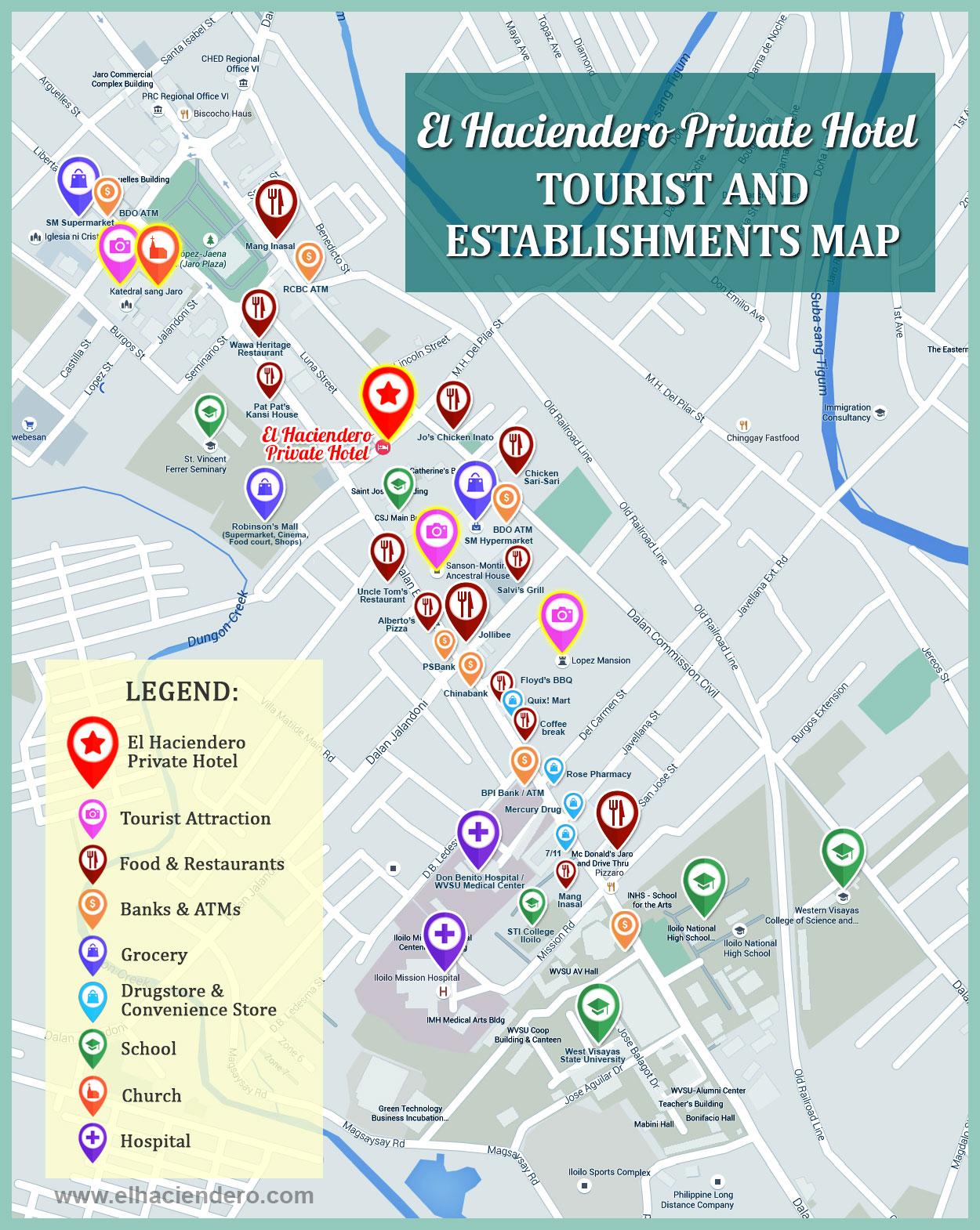 Location And Map El Haciendero - Iloilo city map